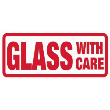 Glass with care Label (500)